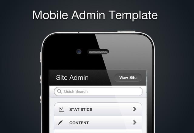 Mobile HTML5 Admin Template