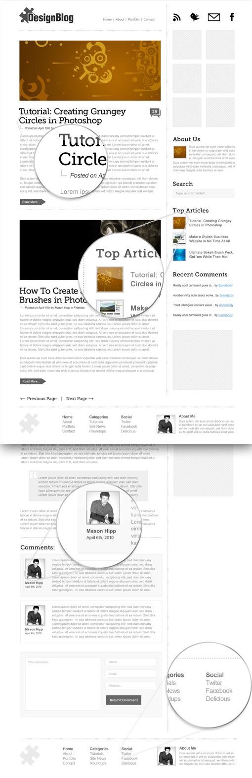 Modern & Minimal Website Design