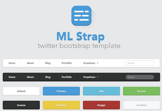 ML Strap: Twitter Bootstrap Theme 1
