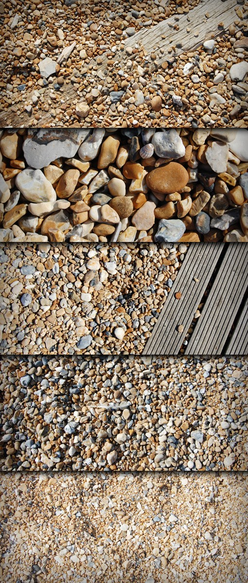 10 High-Res Pebble and Beach Textures