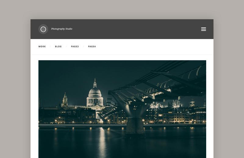 Photography Studio template (HTML/CSS) 1