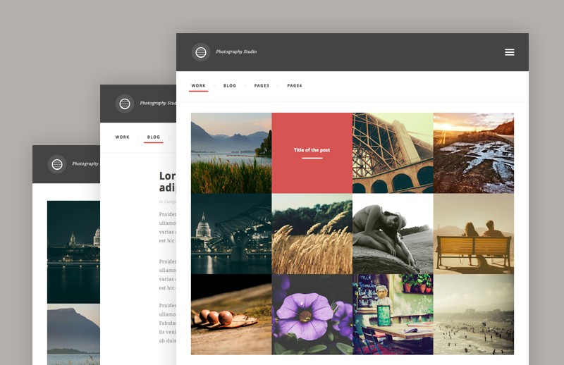 Photography Studio template (HTML/CSS) 2