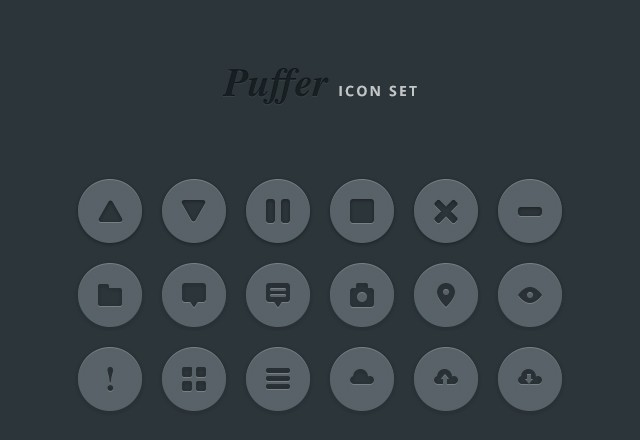 Puffer Icon Set Vol1