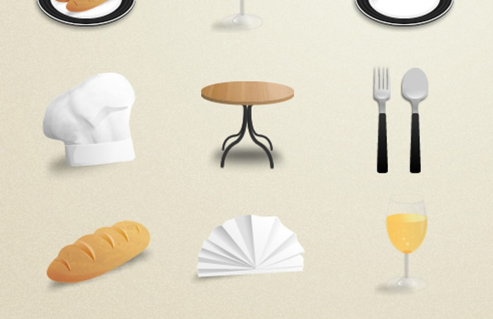 Restaurant Icons Preview