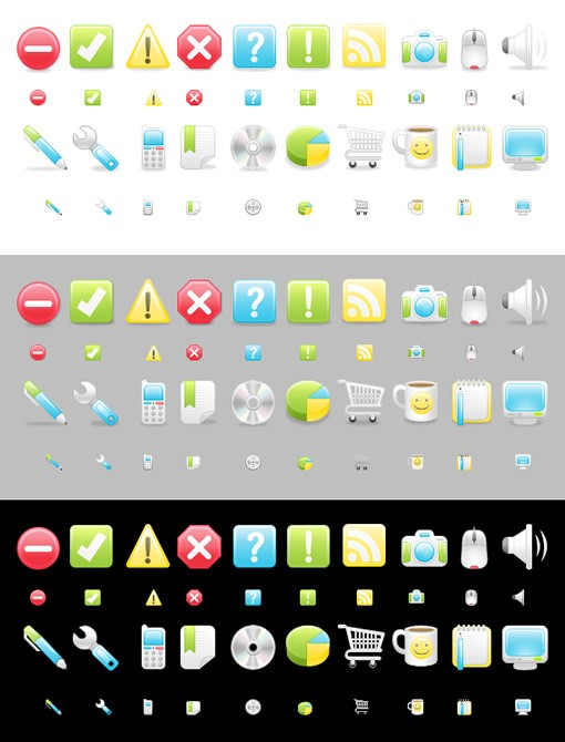 Large Satin Icons 2 Preview