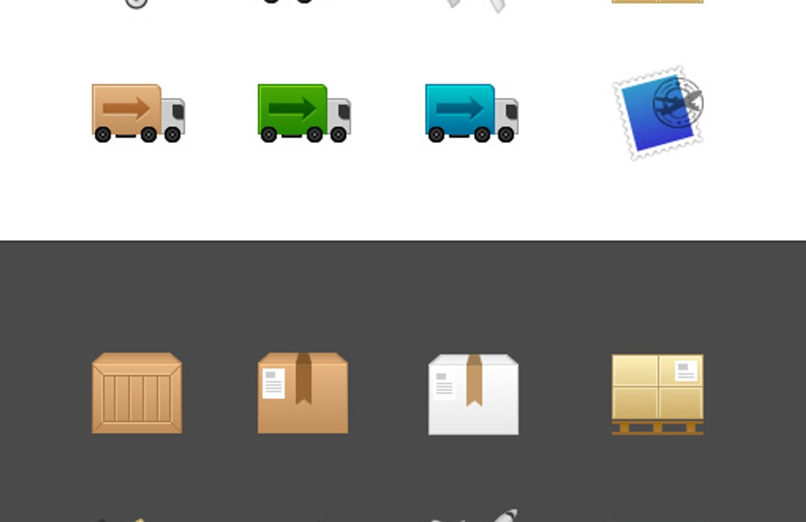Shipping Icons Preview