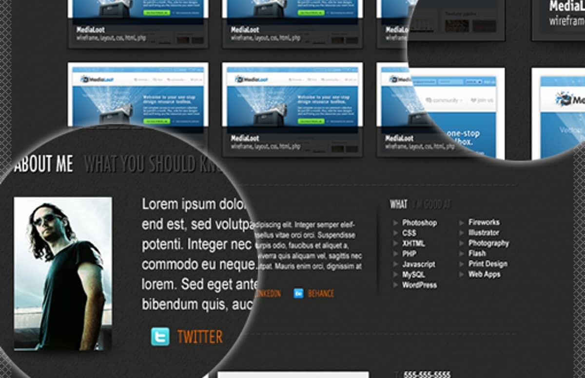 Single Page Portfolio Template Preview