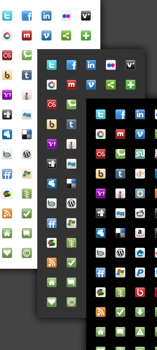 Large Social Media Blogging Icons 510 Preview
