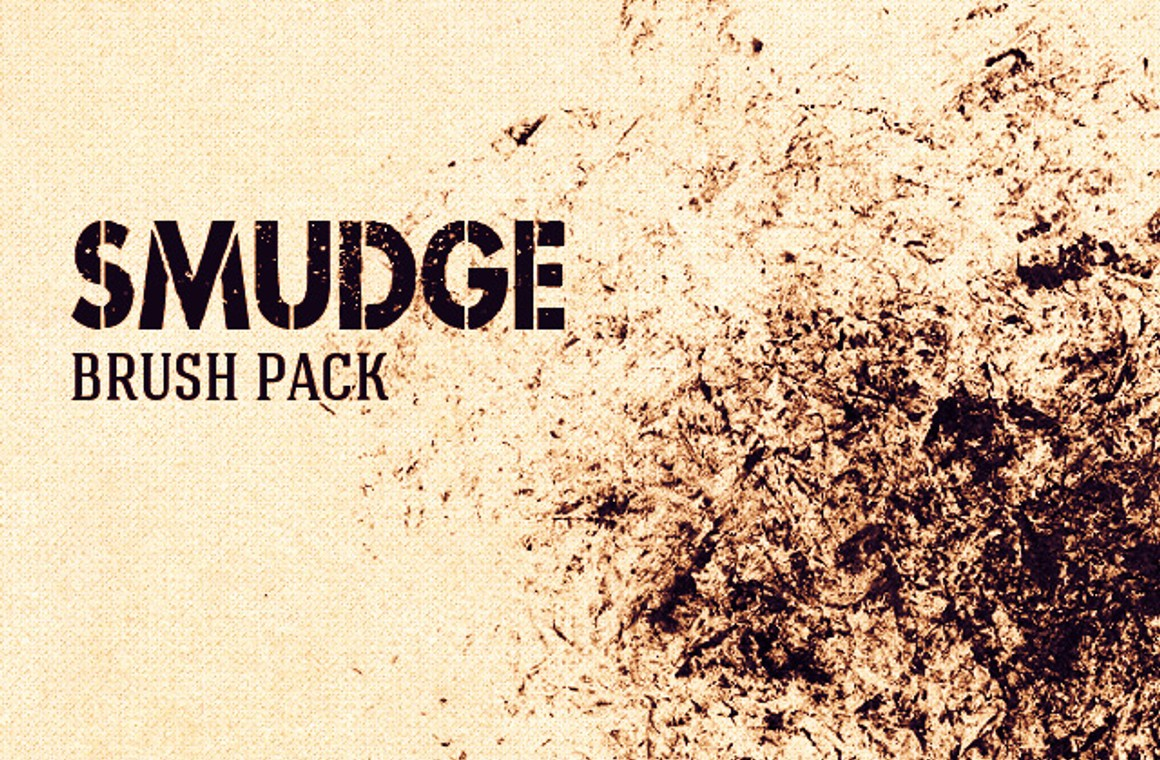 Smudges and Smears Photoshop Brush Set