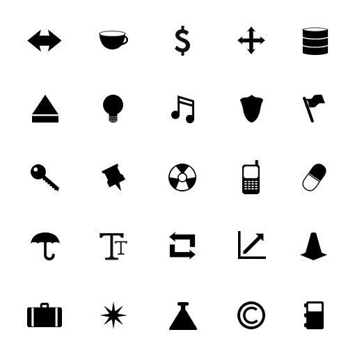 Monochrome Symbols Icon Set 3